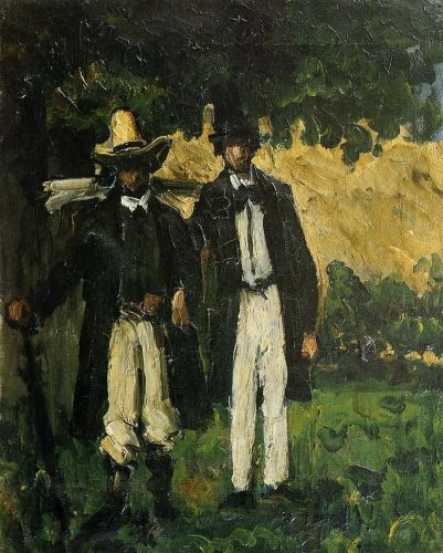 Marion and Valabregue Setting out for Motif, 1866 by Paul Cézanne