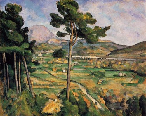 Mont Sainte-Victoire Seen from Bellevue, 1882-1885 by Paul Cézanne