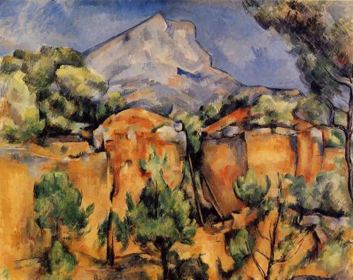 Mont Sainte-Victoire Seen from the Bibemus Quarry (Le Mont Sainte-Victoire vu de la carriere Bibemus), 1897 by Paul Cézanne