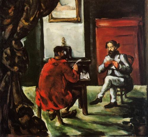 Paul Alexis Reading at Zola's House, 1867-1869 by Paul Cézanne