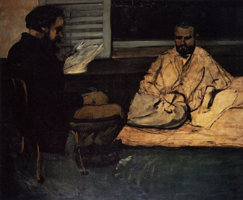 Paul Alexis Reading to Zola, 1869-1870 by Paul Cézanne