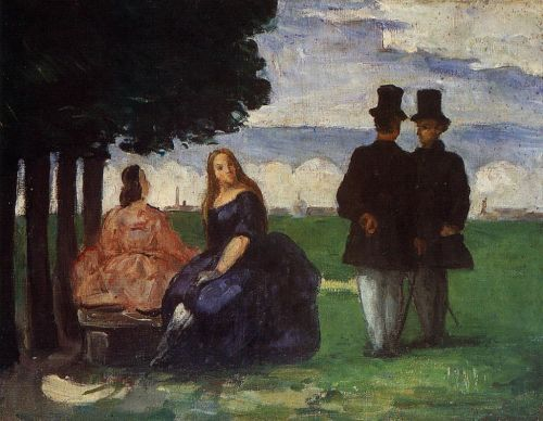 Promenade, 1866 by Paul Cézanne