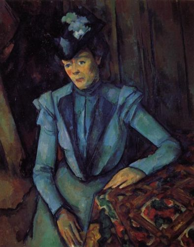Seated Woman in Blue, 1901-1906 by Paul Cézanne