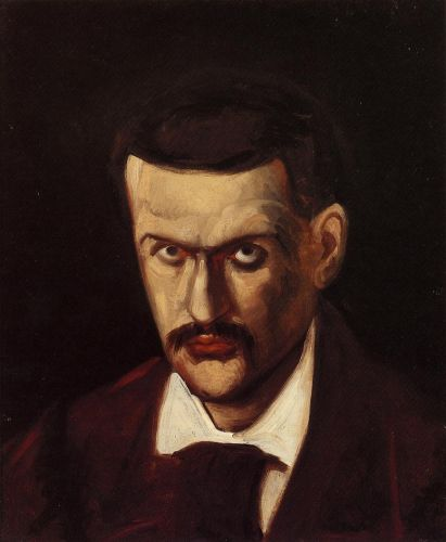 Self Portrait, 1862-1864 by Paul Cézanne