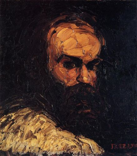 Self Portrait, 1866 by Paul Cézanne