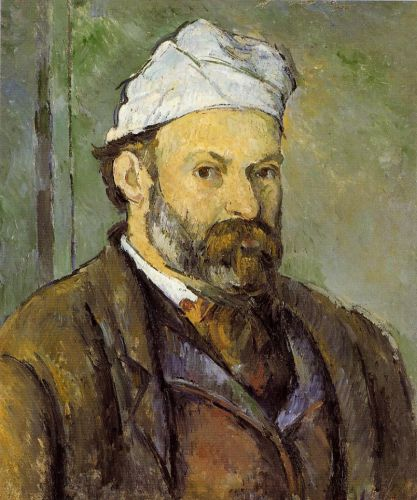 Self Portrait in a White Cap, 1878-1880 by Paul Cézanne