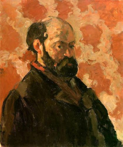 Self Portrait with a Rose Background, 1875 by Paul Cézanne
