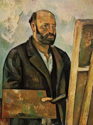 Self Portrait with Palette, 1884 by Paul Cézanne