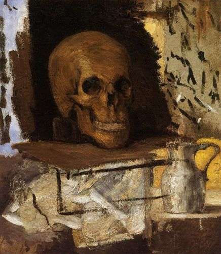Still Life: Skull and Waterjug, 1868-1870 by Paul Cézanne
