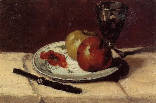 Still Life: Apples and a Glass, 1873 by Paul Cézanne