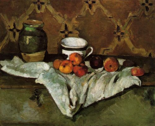 Still Life with Jar, Cup and Apples, 1877 by Paul Cézanne