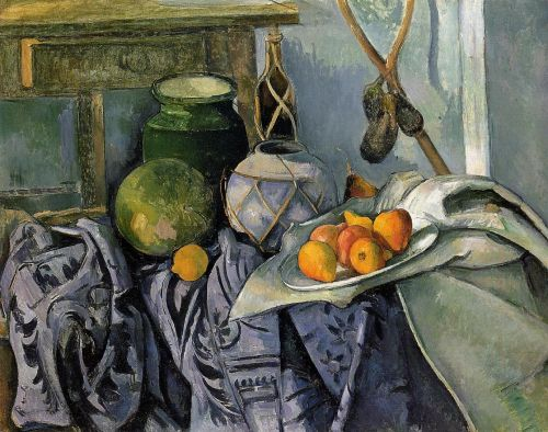 Still Life with a Ginger Jar and Eggplants, 1893-1894 by Paul Cézanne