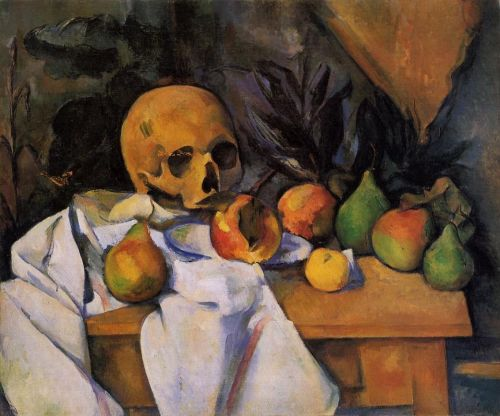 Still Life with Skull (Nature morte au crane), 1895-1900 by Paul Cézanne