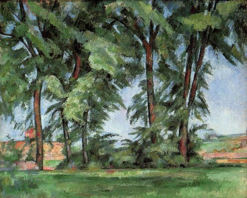 Tall Trees at the Jas de Bouffan, 1885-1887 by Paul Cézanne