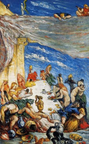 The Banquet of Nebuchadnezzar (The Feast), 1870 by Paul Cézanne