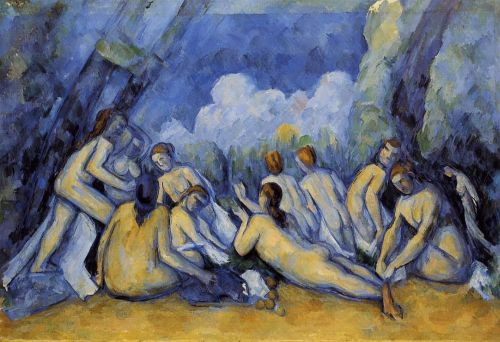 The Large Bathers (Les Grandes Baigneuses), 1900 by Paul Cézanne
