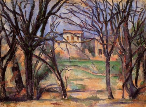 Trees and Houses, 1885-1887 by Paul Cézanne