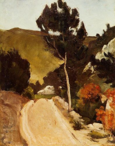 Winding Road in Provence, 1868 by Paul Cézanne