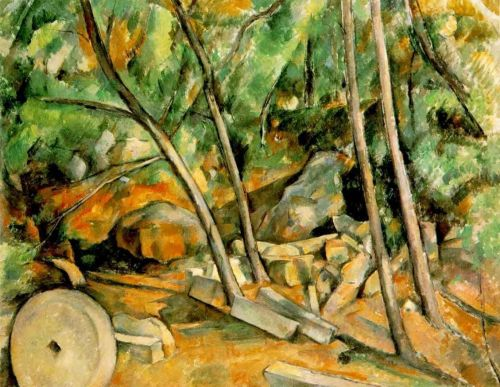 Woods with Millstone, 1898-1900 by Paul Cézanne