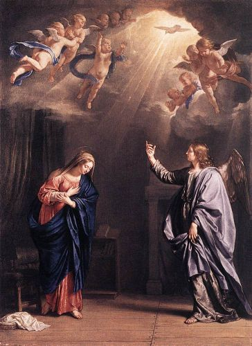 The Annunciation by Philippe de Champaigne