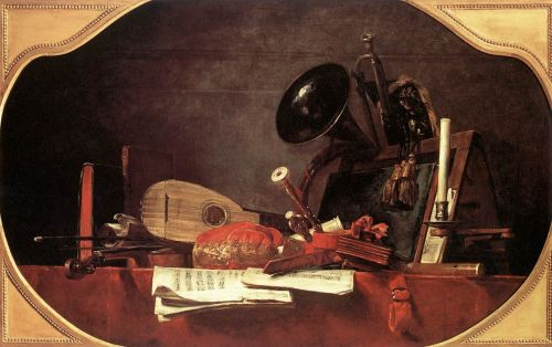Attributes of Music by Jean-Baptiste Simèon Chardin