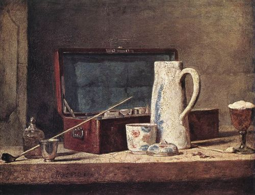 Still-Life with Pipe an Jug by Jean-Baptiste Simèon Chardin