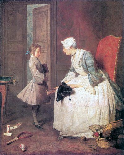 The Governess by Jean-Baptiste Simèon Chardin