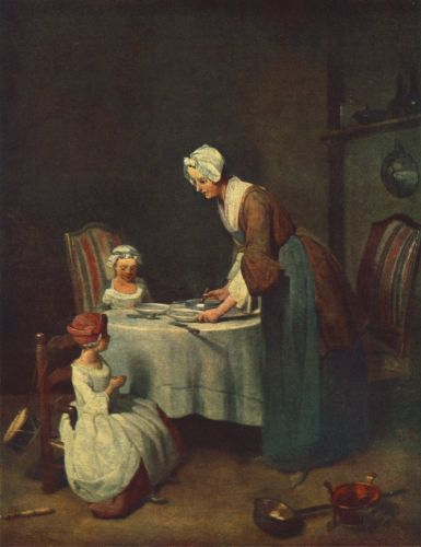 The Prayer before Meal by Jean-Baptiste Simèon Chardin