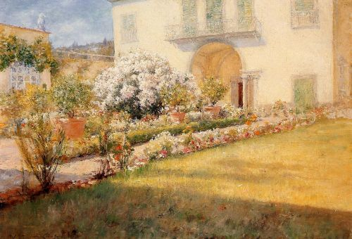 A Florentine Villa by William Merritt Chase