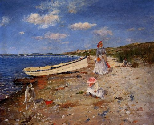 A Sunny Day at Shinnecock Bay by William Merritt Chase