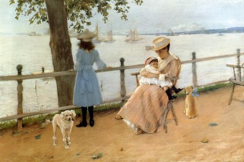 Afternoon by the Sea by William Merritt Chase