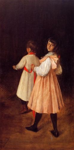 At Play by William Merritt Chase
