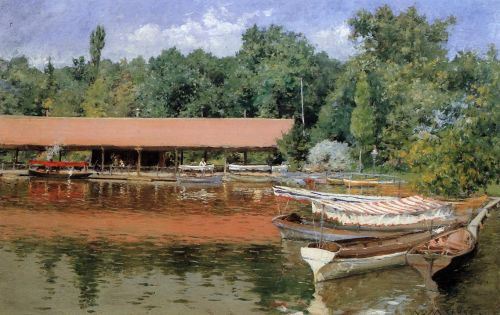 Boat House, Prospect Park by William Merritt Chase