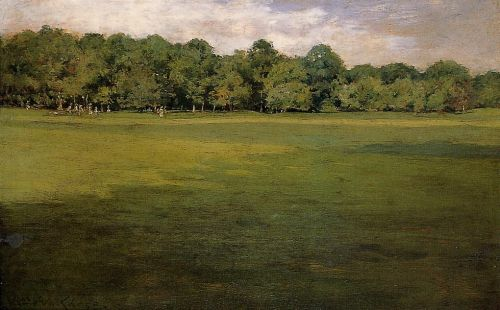 Croquet Lawn by William Merritt Chase
