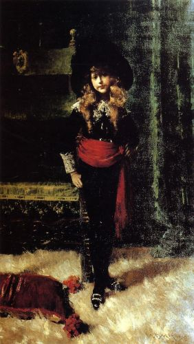 Elsie Leslie Lyde as 'Little Lord Fauntleroy' by William Merritt Chase