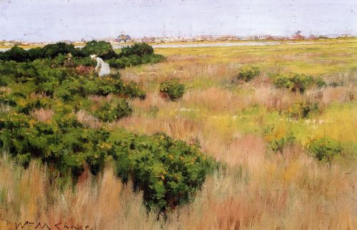 Landscape, near Coney Island by William Merritt Chase