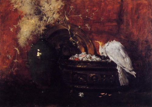 Still Life with Cockatoo by William Merritt Chase