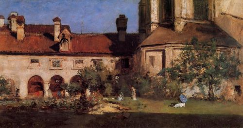 The Cloisters by William Merritt Chase