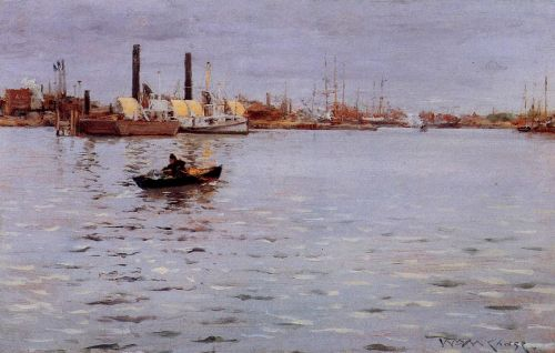 The East River by William Merritt Chase