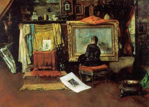 The Tenth Street Studio by William Merritt Chase