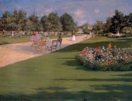 Tompkins Park, Brooklyn by William Merritt Chase