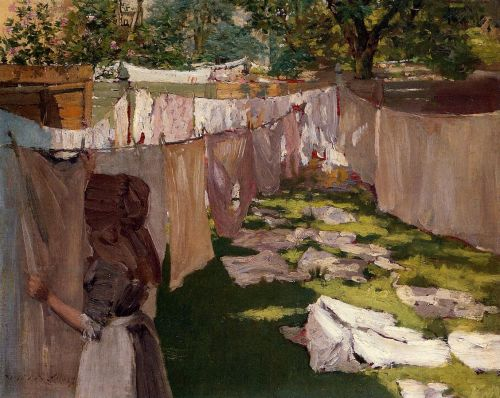 Wash Day by William Merritt Chase