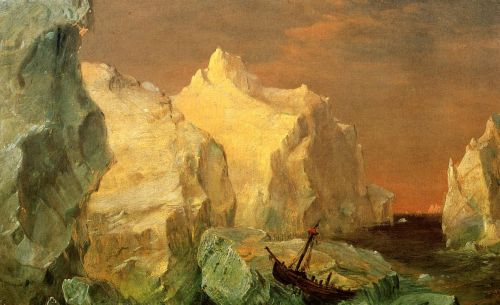 Icebergs and Wreck in Sunset by Frederic Edwin Church