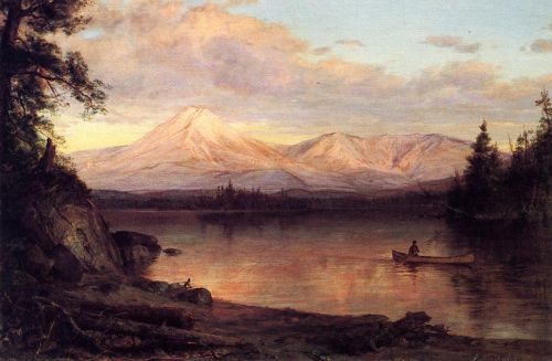 View of Mount Katahdin by Frederic Edwin Church