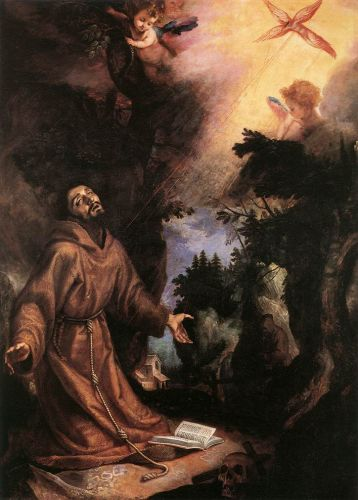 St Francis Receives the Stigmata by Lodovico Cigoli