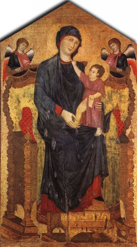 Madonna Enthroned with the Child and Two Angels by Cenni di Pepo Cimabue