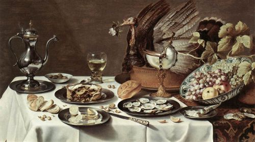 Still-life with Turkey-Pie by Pieter Claesz