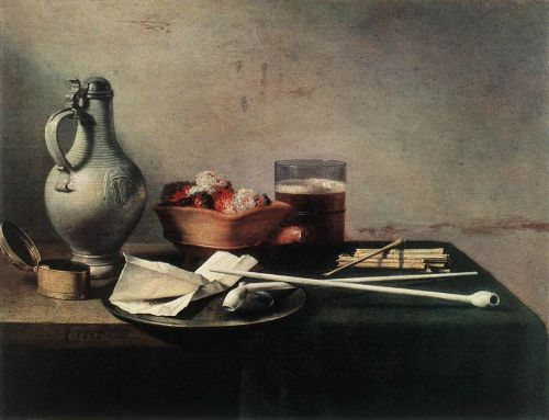 Tobacco Pipes and a Brazier by Pieter Claesz