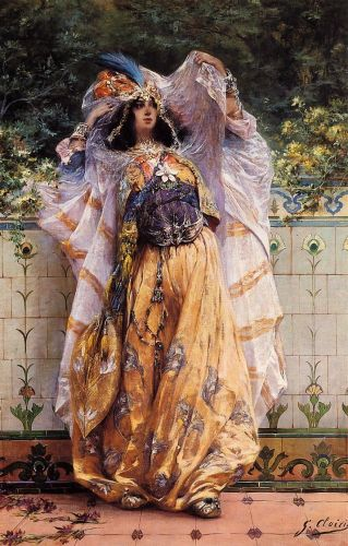 An Ouled-Nail Tribal Dancer by Georges Jules Victor Clairin