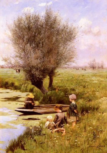 Afternoon Along The River by Emile Claus